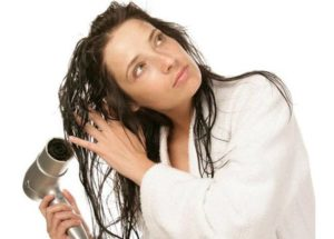 Avoid hair dryers