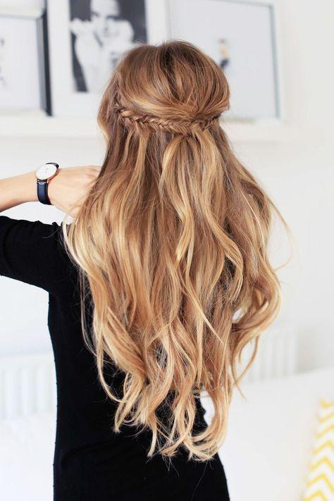 basic bohemian hairstyle
