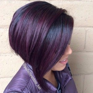 Mahogany Bob With Highlights