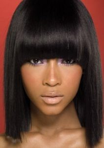 Sleek Long Bowl Bob Haircut