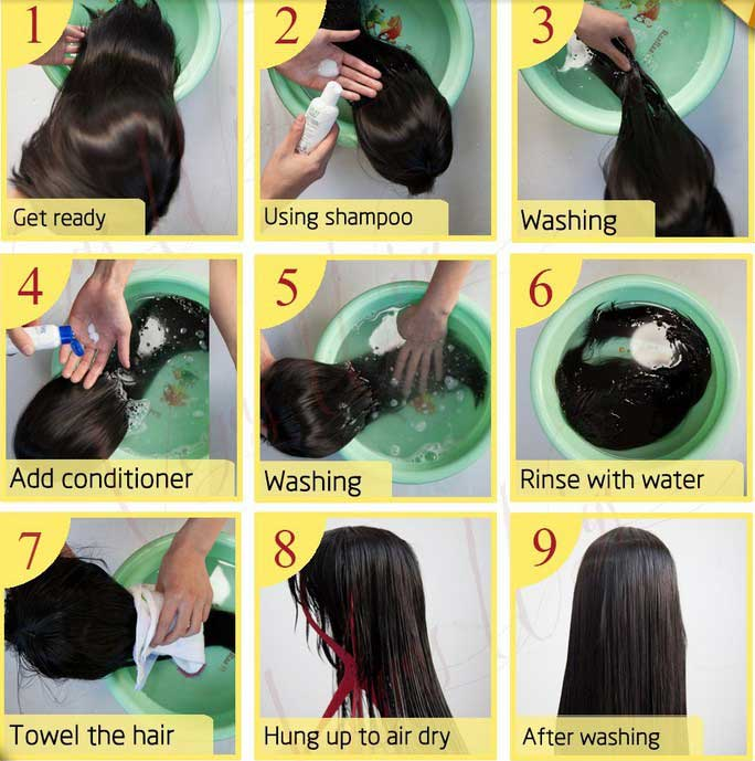 Wash Hair Before installation