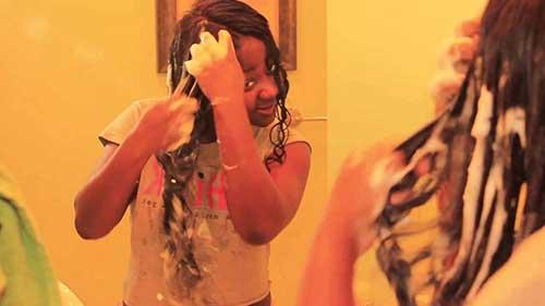 wash brazilian hair weave