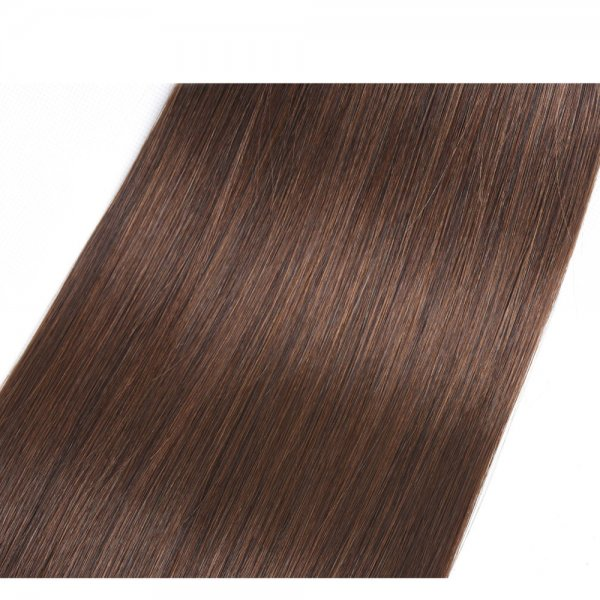 1 Bundle Dyed Straight Brazilian Hair Extensions #4 Chocolate Brown