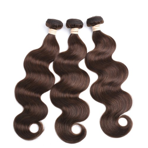 3 Bundles Dyed Brazilian Hair Extensions #4 Color Body Wave On Sale