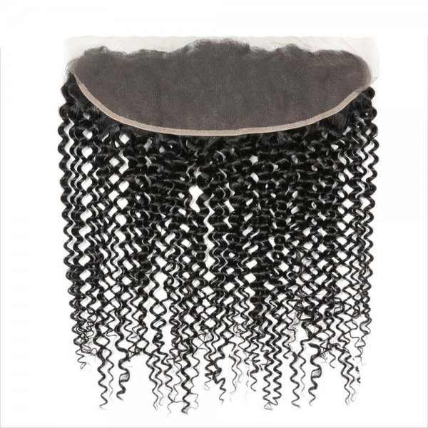 7A 13x4 Lace Frontal Closure Kinky Curly Human Virgin Brazilian Remy Hair
