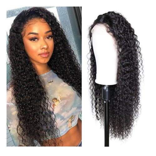 Ponytail 360 Lace Wig Deep Curly No Shedding And Looks Full Top Quality Brazilian Lace Frontal Wigs Human Hair