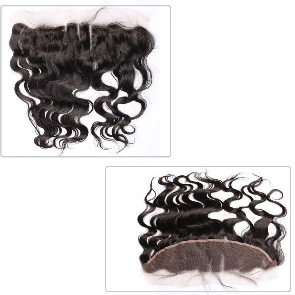 7A 3 Bundles Brazilian Body Wave Virgin Human Remy Hair Weave With 13x4 Lace Frontal Closure