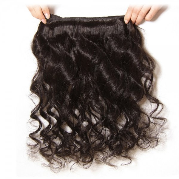 7A 3 Bundles Brazilian Loose Wave Virgin Human Remy Hair Weave With 13x4 Lace Frontal Closure