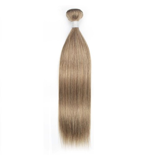 1 Bundle Dyed Brazilian Hair Extensions #8 Color Straight