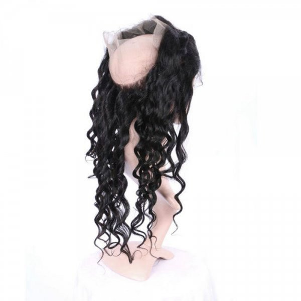 7A 360 Lace Frontal Closure Loose Wave Human Brazilian Remy Virgin Hair