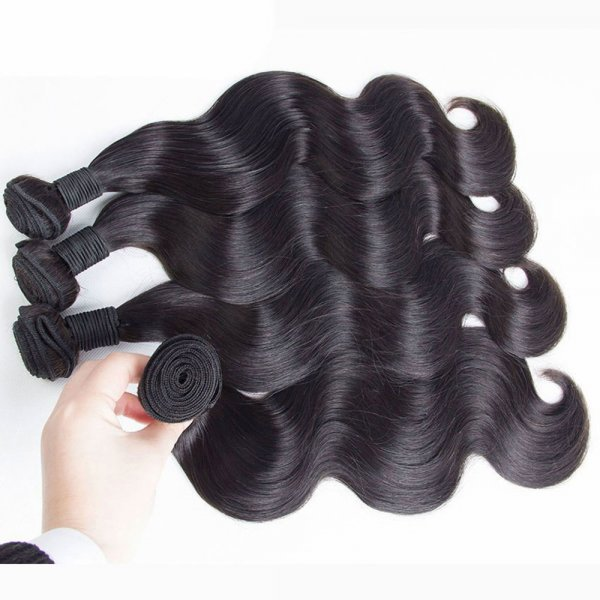 10A 3 Bundles Brazilian Body Wave Virgin Human Remy Hair Weave