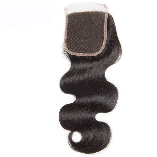 7A 4x4 Lace Closure Body Wave 100% Human Virgin Brazilian Remy Hair