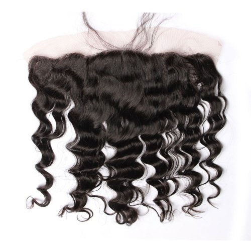 7A 13x4 Lace Frontal Closure Loose Wave Human Virgin Brazilian Remy Hair