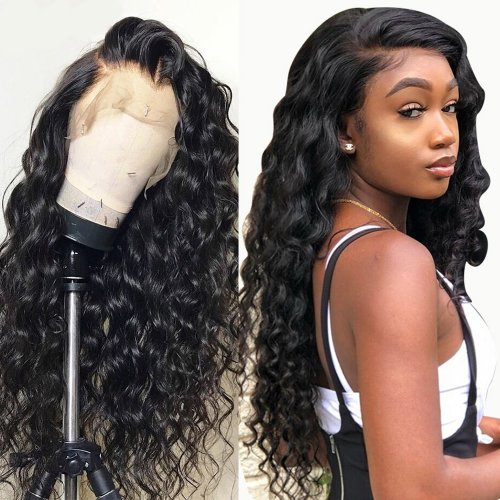 Brazilian 360 Lace Wig Loose Wave Bleached Knots Lace Frontal Wigs With Baby Hair For Full Head On Sale