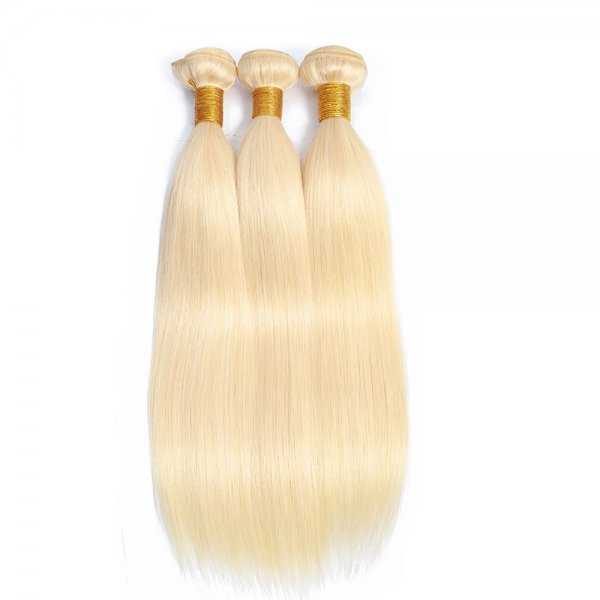 1 Bundle Dyed Brazilian Hair Extensions Human Hair #613 Blonde Body Wave