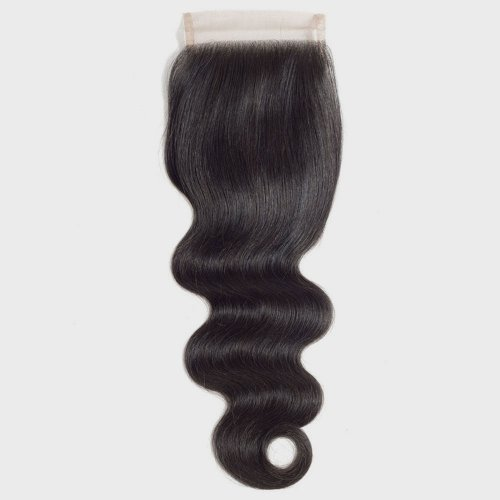 Body Wave 4x4 Transparent Lace Closure With Baby Hair Pre Plucked Brazilian Human Hair Remy Hair