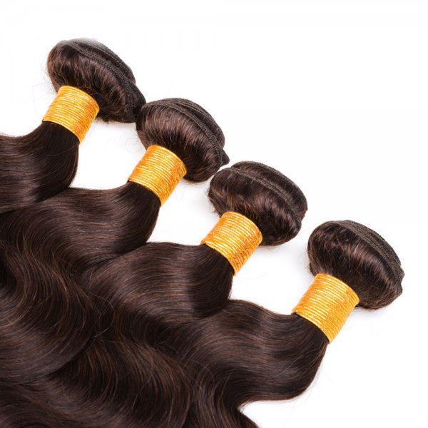 1 Bundle Dyed Body Wave Brazilian Hair Extensions #2 Dark Brown