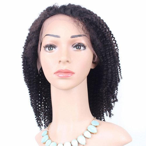 Full Lace Wigs Kinky Curly 100% Human Brazilian Remy Virgin Hair