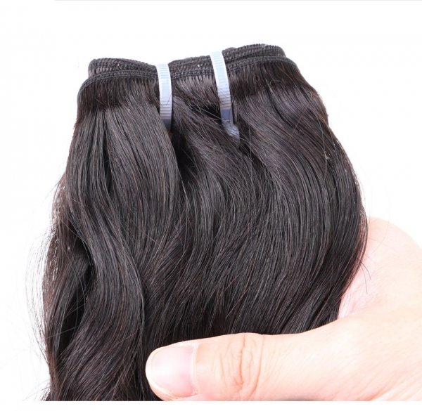 8A 4 Bundles Brazilian Natural Wave Virgin Human Remy Hair Weave