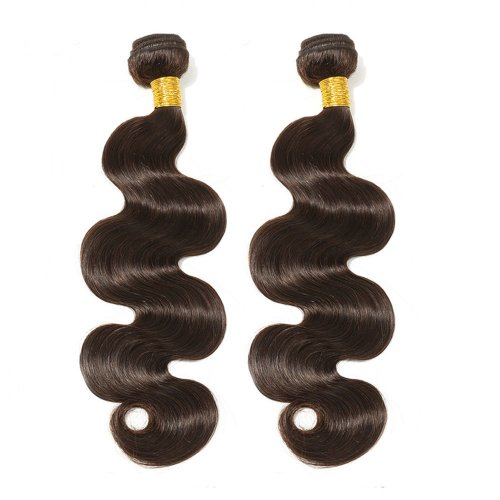 2 Bundles Dyed Body Wave Brazilian Hair Extensions #2 Dark Brown
