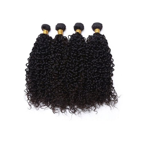 7A 4 Bundles Brazilian Kinky Curly Virgin Human Remy Hair Weave