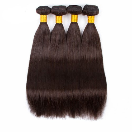 4 Bundles Dyed Brazilian Straight Hair Extensions #2 Color