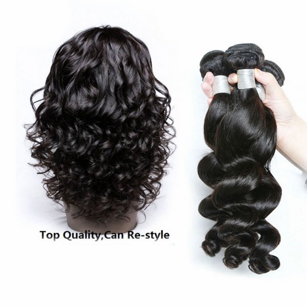 8A 1 Bundle Brazilian Loose Wave Virgin Human Remy Hair Weave