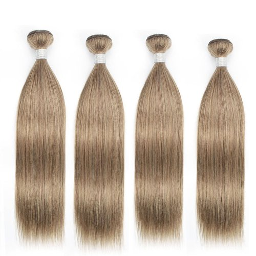 4 Bundles Dyed Brazilian Hair Extensions #8 Color Straight