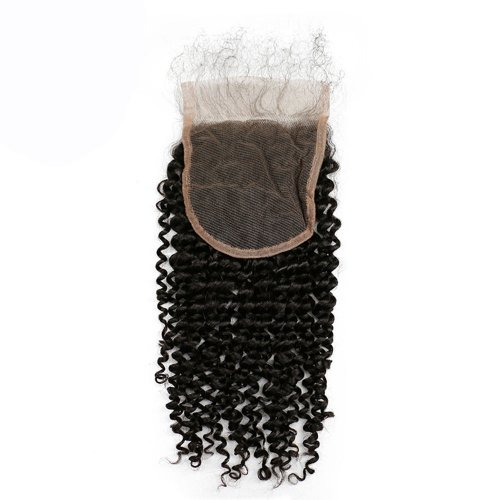 8A 4x4 Lace Closure Deep Curly 100% Human Virgin Brazilian Remy Hair