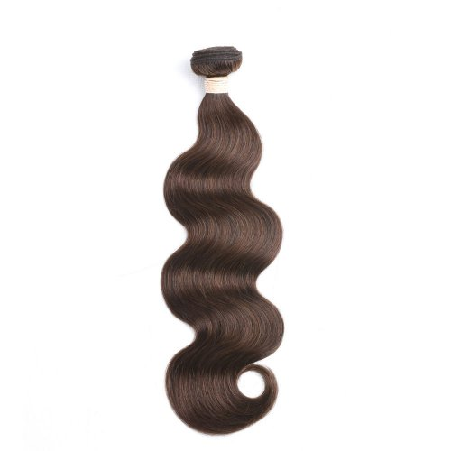 1 Bundle Dyed Brazilian Hair Extensions #4 Color Body Wave On Sale