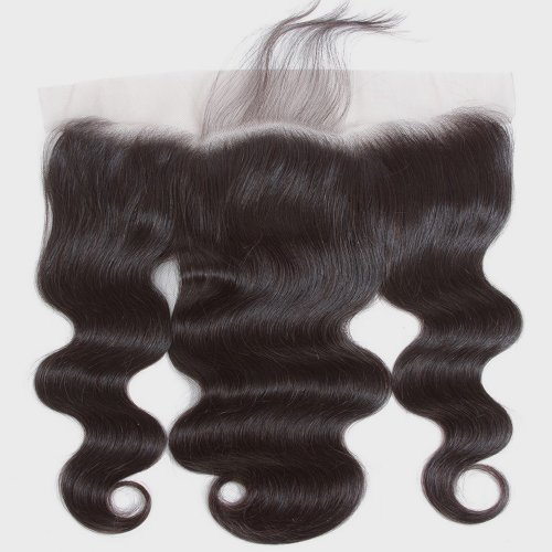 Body Wave 13x4 Transparent Lace Frontal Ear To Ear With Baby Hair Pre Plucked Brazilian Human Hair Remy Hair