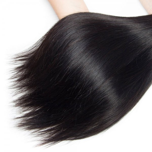 7A 1 Bundle Brazilian Straight Virgin Human Remy Hair Weave