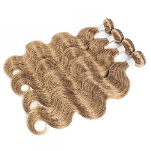 4 Bundles Dyed Body Wave Brazilian Hair Extensions #8 Color