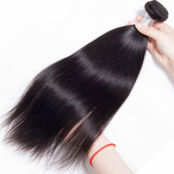8A 3 Bundles Brazilian Straight Virgin Human Remy Hair Weave