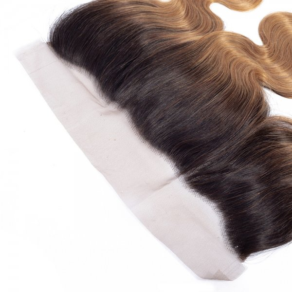 Body Wave 1B/27 Ombre 13x4 Lace Frontal Closure Human Virgin Brazilian Remy Hair