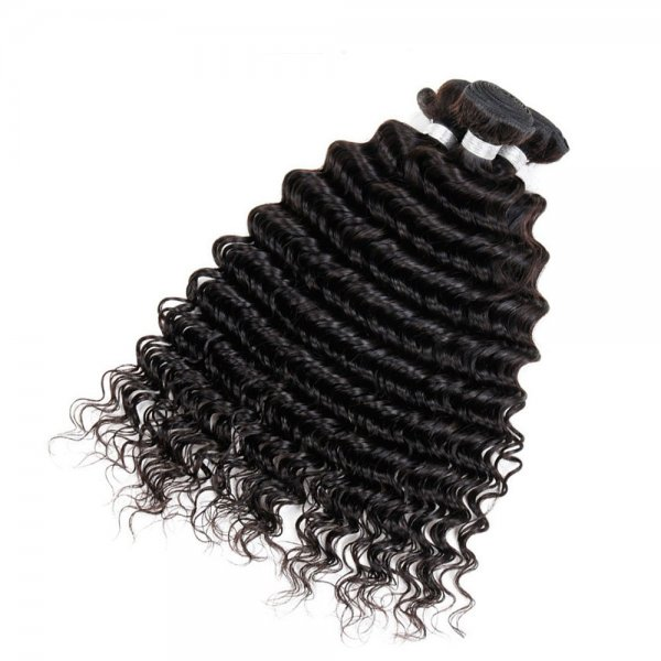 8A 2 Bundles Brazilian Deep Wave Virgin Human Remy Hair Weave