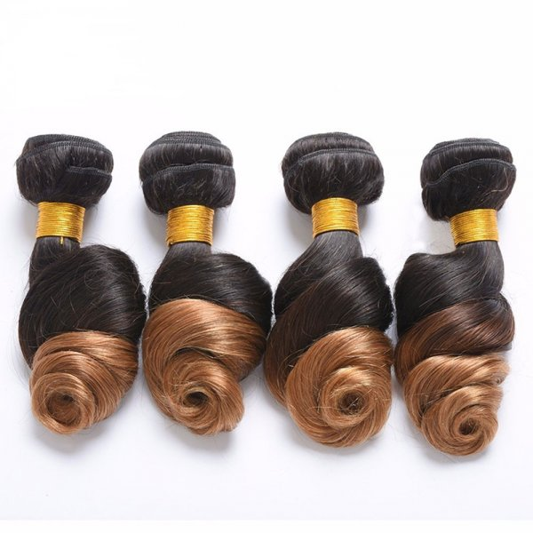 1 Bundle 1B/27 Ombre Brazilian Loose Wave Human Remy Hair Weave