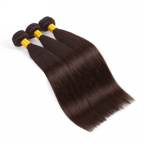 3 Bundles Dyed Brazilian Straight Hair Extensions #2 Color