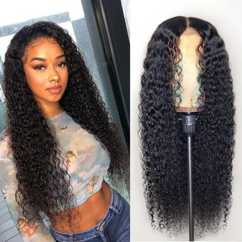 Gorgeous Lace Front Wigs Deep Curly 200% Density Unprocessed Brazilian Human Hair On Sale For Women