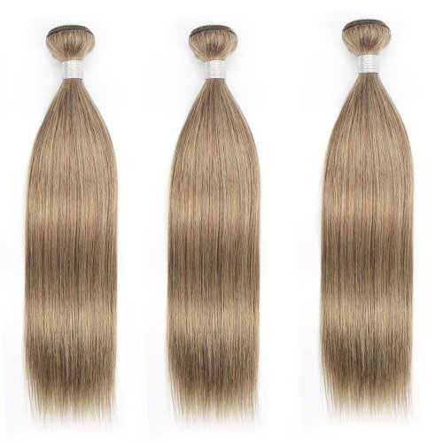 3 Bundles Dyed Brazilian Hair Extensions #8 Color Straight