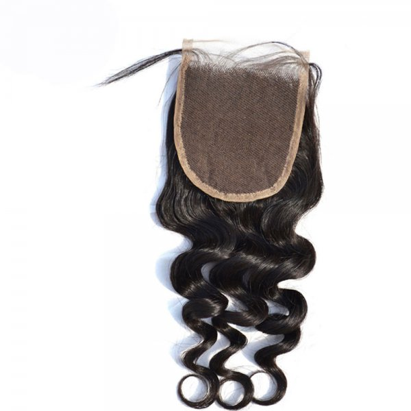 8A 4x4 Lace Closure Loose Wave 100% Human Virgin Brazilian Remy Hair
