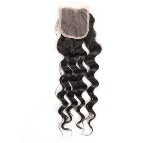 7A 4x4 Lace Closure Loose Deep 100% Human Virgin Brazilian Remy Hair