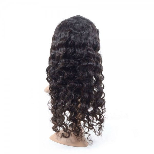 Full Lace Wigs Deep Wave 100% Human Brazilian Remy Virgin Hair