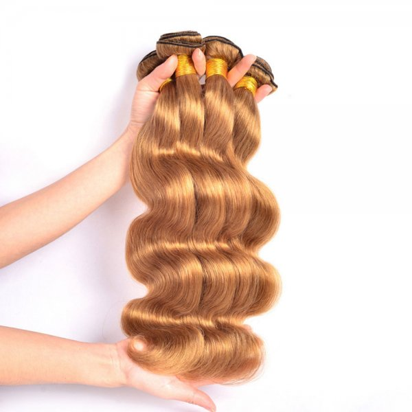 1 Bundle Dyed Brazilian Body Wave Hair Extensions #27 Color