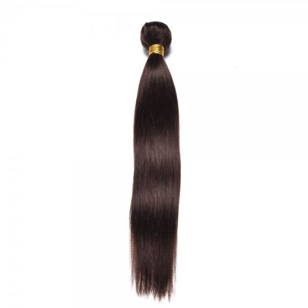1 Bundle Dyed Brazilian Straight Hair Extensions #2 Color