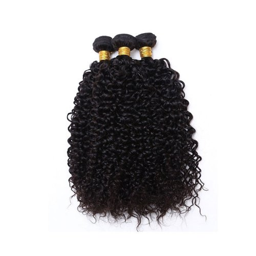 7A 3 Bundles Brazilian Kinky Curly Virgin Human Remy Hair Weave