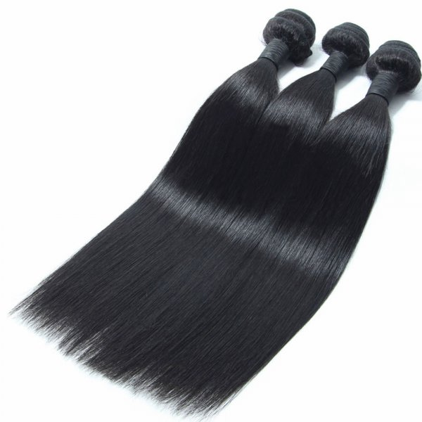 10A 3 Bundles Brazilian Straight Virgin Human Remy Hair Weave