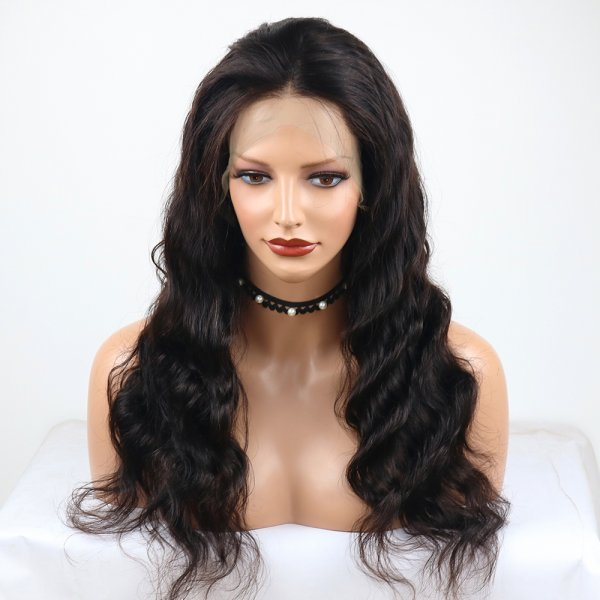 100% Virgin Natural Wavy 360 Lace Frontal Wig Body Wave Best Quality Brazilian Human Hair Very Popular