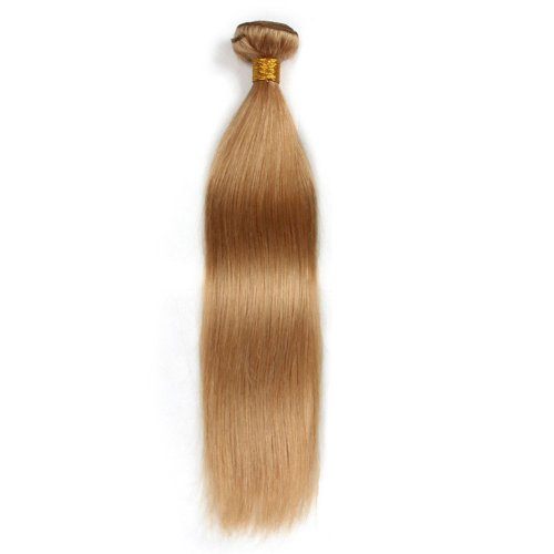 1 Bundle Dyed Brazilian Hair Extensions #27 Color Straight