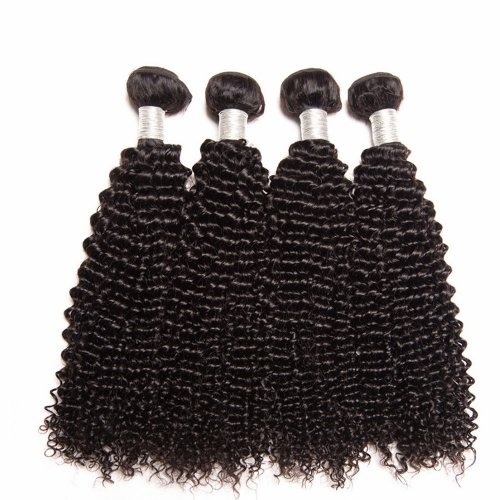 8A 4 Bundles Brazilian Kinky Curly Virgin Human Remy Hair Weave